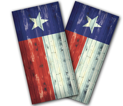 Texas Flag Distressed Cornhole Wraps