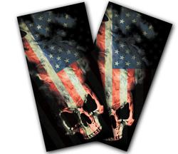 American Skull Cornhole Wraps
