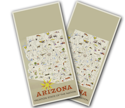 Arizona Poster Cornhole Wraps