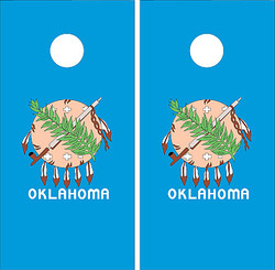 Oklahoma Flag Cornhole Set with Bags