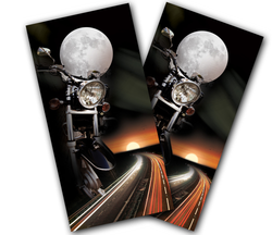 Motorcycle Rider Cornhole Wraps