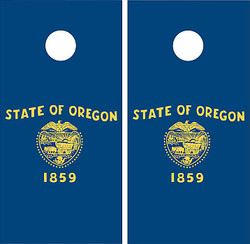 Oregon Flag Cornhole Set with Bags
