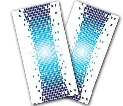 Pixel Warp Cornhole Wraps