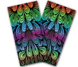 Rainbow Swirl Cornhole Wraps