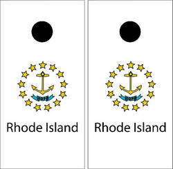 Rhode Island Flag Cornhole Set with Bags