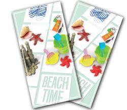 Beach Time Cornhole Wraps