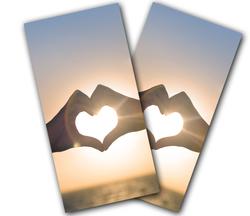 Love Sunset Cornhole Wraps