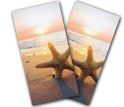 Starfish Beach Cornhole Wraps