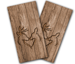 Deer Heart Cornhole Wraps