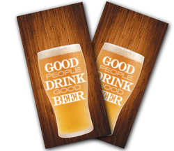 Good People Drink Good Beer Cornhole Wraps