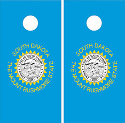 South Dakota Flag Cornhole Set with Bags