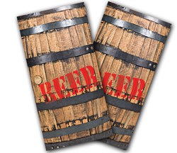 Beer Barrel Cornhole Wraps