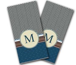Paisley Stroll Monogram Cornhole Wraps