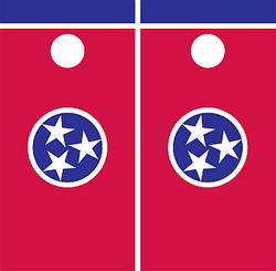Tennessee Flag Cornhole Set with Bags
