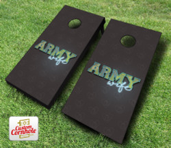 Army Wife Cornhole Set with Bags