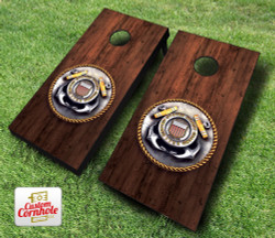 Coast Guard Medal Cornhole Set with Bags