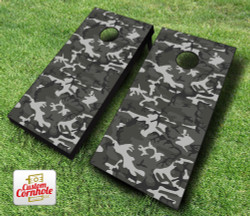 Gray Camo Cornhole Set with Bags