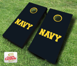 US Navy Text Cornhole Set with Bags