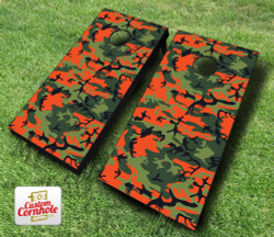 Orange Camo Cornhole Set with Bags