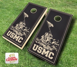 USMC Stained Cornhole Set with Bags