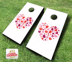 Heart Cornhole Set with Bags