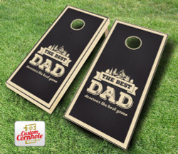 Best Dad Stained Cornhole Set with Bags
