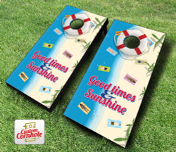 Beach Themed Cornhole Set with Bags