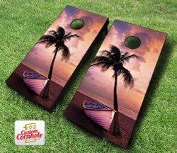 Docked in Paradise Cornhole Set with Bags