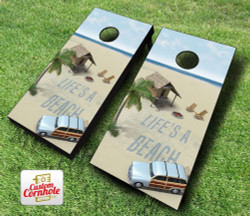 Life's a Beach Cornhole Set with Bags