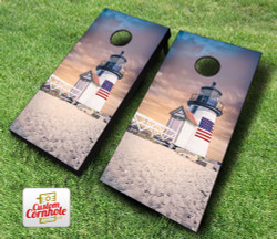 Nantucket Island Lighthouse Cornhole Set with Bags