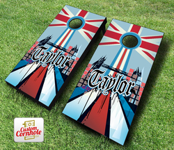 English Surname Cornhole Set with Bags