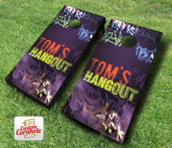 Blacklight Hangout Cornhole Set with Bags