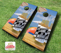 Beach Wedding Brew Cornhole Set with Bags