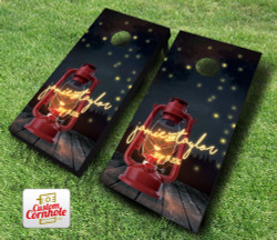Firefly Forest Wedding Cornhole Set with Bags
