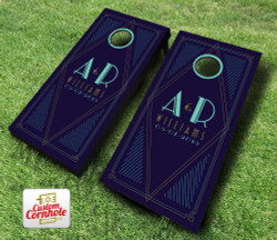 Art Deco Wedding Cornhole Set with Bags