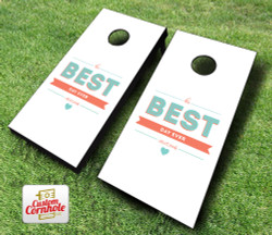 The Best Day Ever Wedding Cornhole Set with Bags