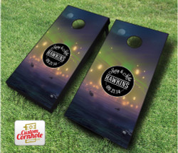 Chinese Lantern Wedding Cornhole Set with Bags