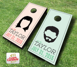 Wedding Hairstyles Cornhole Set with Bags