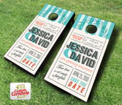 Wedding Invitation Cornhole Set with Bags