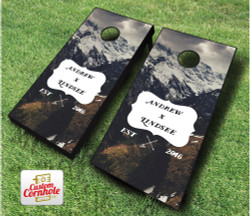 Wedding Mountains Cornhole Set with Bags