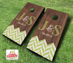 Chevron Wedding Cornhole Set with Bags