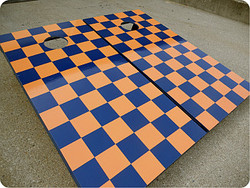 Two-Colored Checkerboard Set with Bags