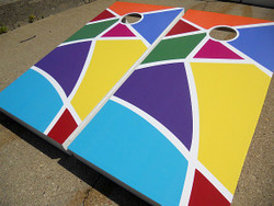 Abstract Cornhole Set with Bags