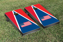 US Flag Triangle Cornhole Set with Bags