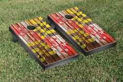 Maryland Flag Distressed Wood Cornhole Set with Bags