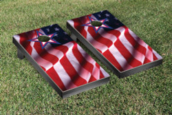 US Flag With Star Cornhole Set with Bags