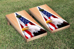 American Eagle USA Hardcourt Triangle Version Cornhole Set with Bags