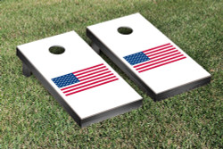 United States Flag Solid Version Cornhole Set with Bags
