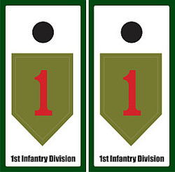 1st Infantry Division Cornhole Set with Bags