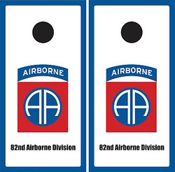 82nd Airborne Division Cornhole Set with Bags